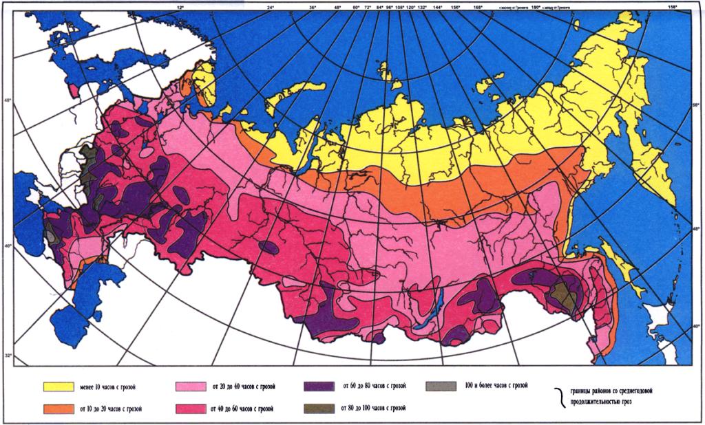 карта для молниезащиты